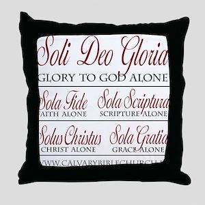 SoliDeoGloria Throw Pillow