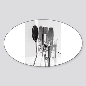 Microphone recording equipment for vocals Sticker