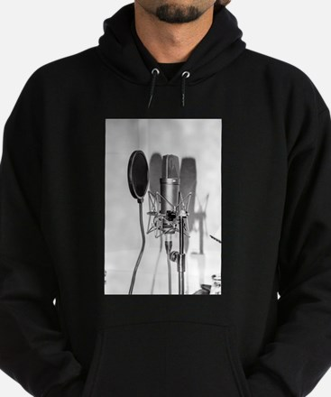 Microphone recording equipment for v Hoodie (dark)