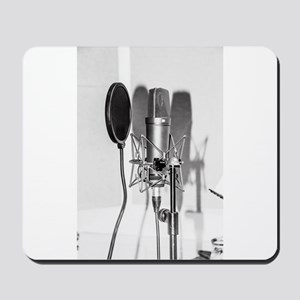 Microphone recording equipment for vocal Mousepad