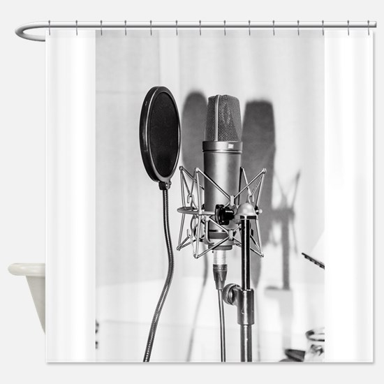 Microphone recording equipment for Shower Curtain