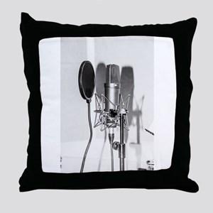 Microphone recording equipment for vo Throw Pillow