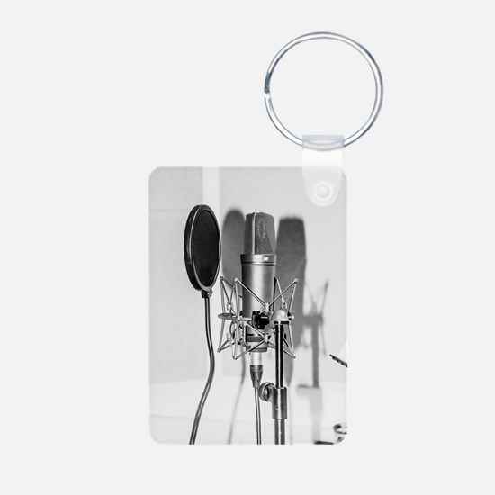 Microphone recording equipment for vocal Keychains
