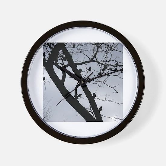 Cute A murder of crows Wall Clock