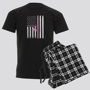 Ribbon Flag Fight Men's Dark Pajamas