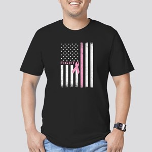 Ribbon Flag Fight Men's Fitted T-Shirt (dark)