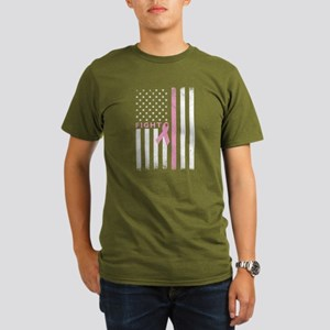 Ribbon Flag Fight Organic Men's T-Shirt (dark)