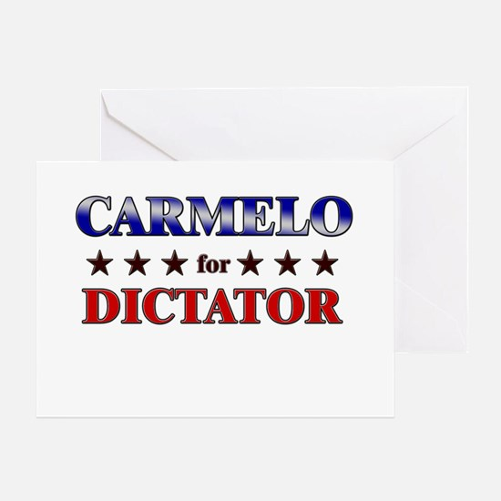 CARMELO for dictator Greeting Card