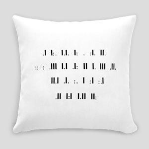 Morse code alphabet Everyday Pillow