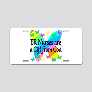 ER NURSE FAITH Aluminum License Plate
