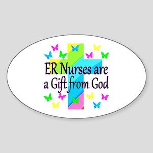 ER NURSE FAITH Sticker (Oval)