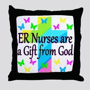 ER NURSE FAITH Throw Pillow