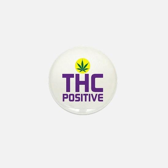 THC POSITIVE - POT LEAF Mini Button