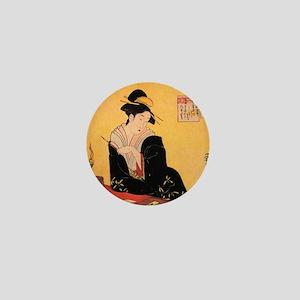 Immortal Poets by Chobunsei Eishi Mini Button