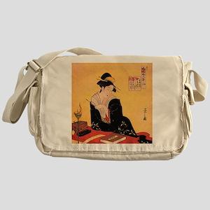 Immortal Poets by Chobunsei Eishi Messenger Bag