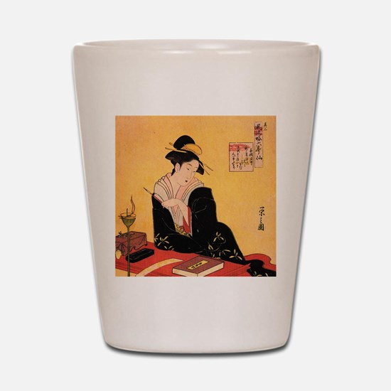 Immortal Poets by Chobunsei Eishi Shot Glass