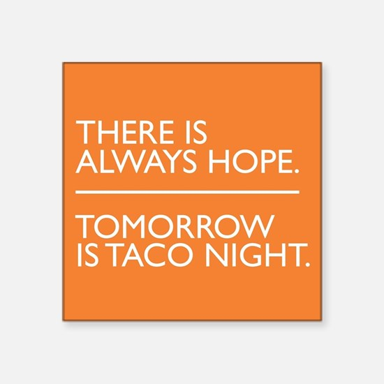"OITNB Taco Square Sticker 3"" x 3"""