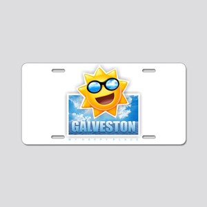 Galveston Aluminum License Plate