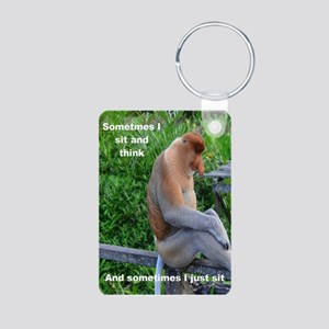 Proboscis Monkey Maybe Thinking Keychains