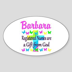 RN NURSE FAITH Sticker (Oval)