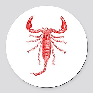 Penny Dreadful Red Scorpion Round Car Magnet