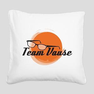 Team Vause Orange Square Canvas Pillow