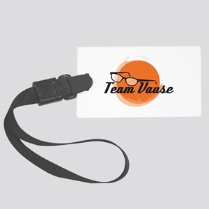 Team Vause Orange Large Luggage Tag