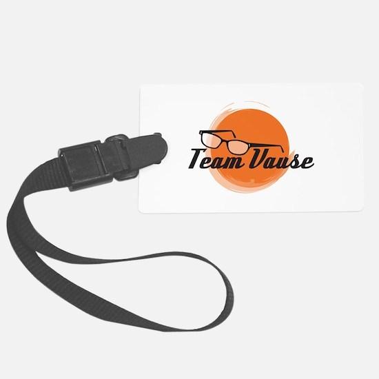Team Vause Orange Luggage Tag