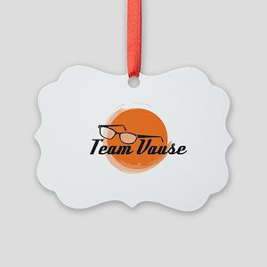 Team Vause Orange Picture Ornament