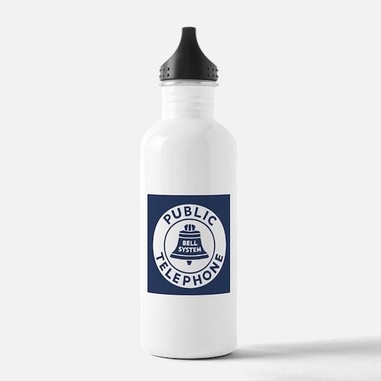 Bell Telephone Backgro Water Bottle