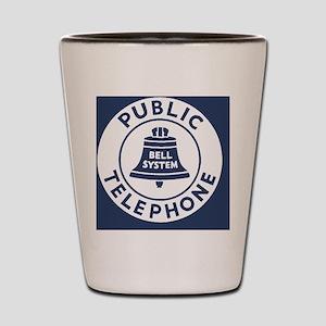 Bell Telephone Background- Logo Shot Glass
