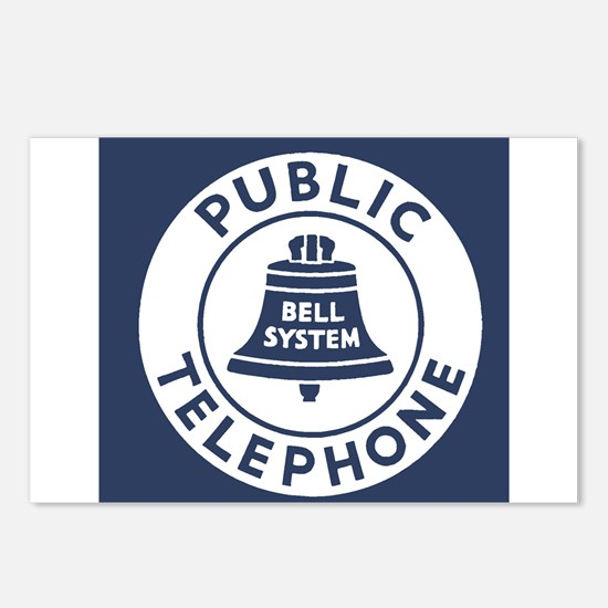 Bell Telephone Background Postcards (Package of 8)