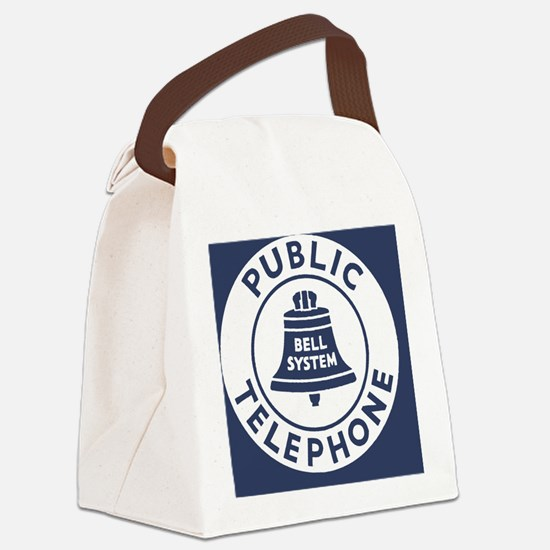 Bell Telephone Background- Logo Canvas Lunch Bag