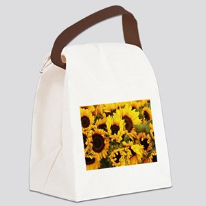 sunflowers at Almaden valley Art Canvas Lunch Bag