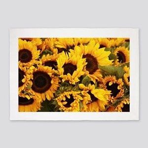 sunflowers at Almaden valley Art an 5'x7'Area Rug