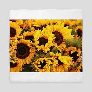 sunflowers at Almaden valley Art and W Queen Duvet