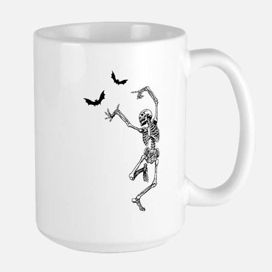 Dancing with the bats -skeleton Mugs