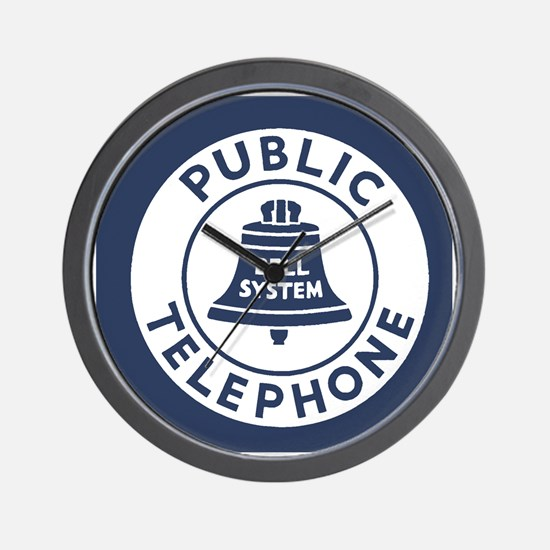 Bell Telephone Background- Logo Wall Clock