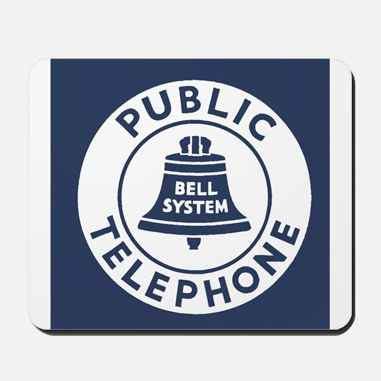 Bell Telephone Background- Logo Mousepad