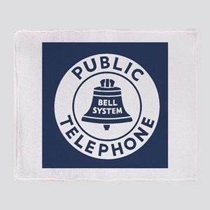 Bell Telephone Background- Logo Throw Blanket
