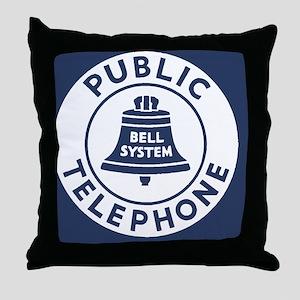 Bell Telephone Background- Logo Throw Pillow