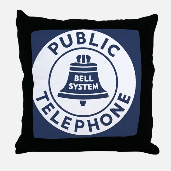 Bell Telephone Background- Logo Throw Pillow
