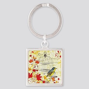 Autumn birdcage Keychains