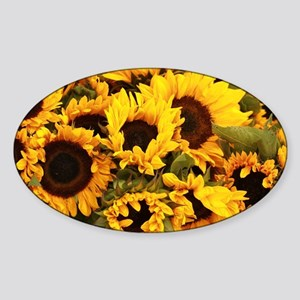 sunflowers at Almaden valley Art and Wine Sticker