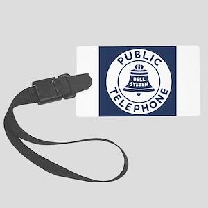 Bell Telephone Background- Logo Large Luggage Tag