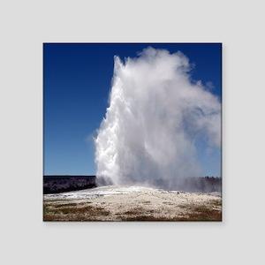 "Yellowstone Natl Park - Old Square Sticker 3"" x 3"""