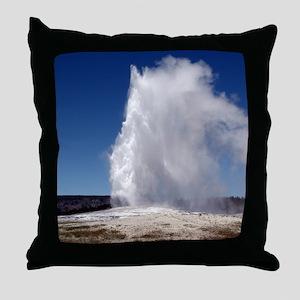 Yellowstone Natl Park - Old Faithful Throw Pillow