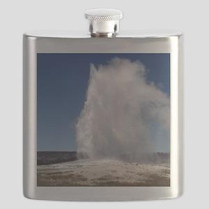 Yellowstone Natl Park - Old Faithful Flask
