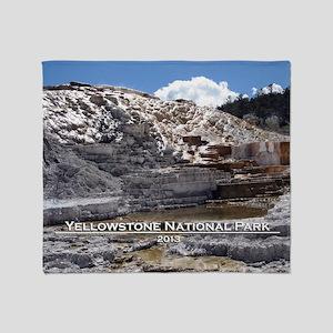 Mammoth Hot Springs, YNP Throw Blanket
