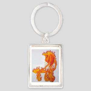 Firey Phoenix Portrait Keychain
